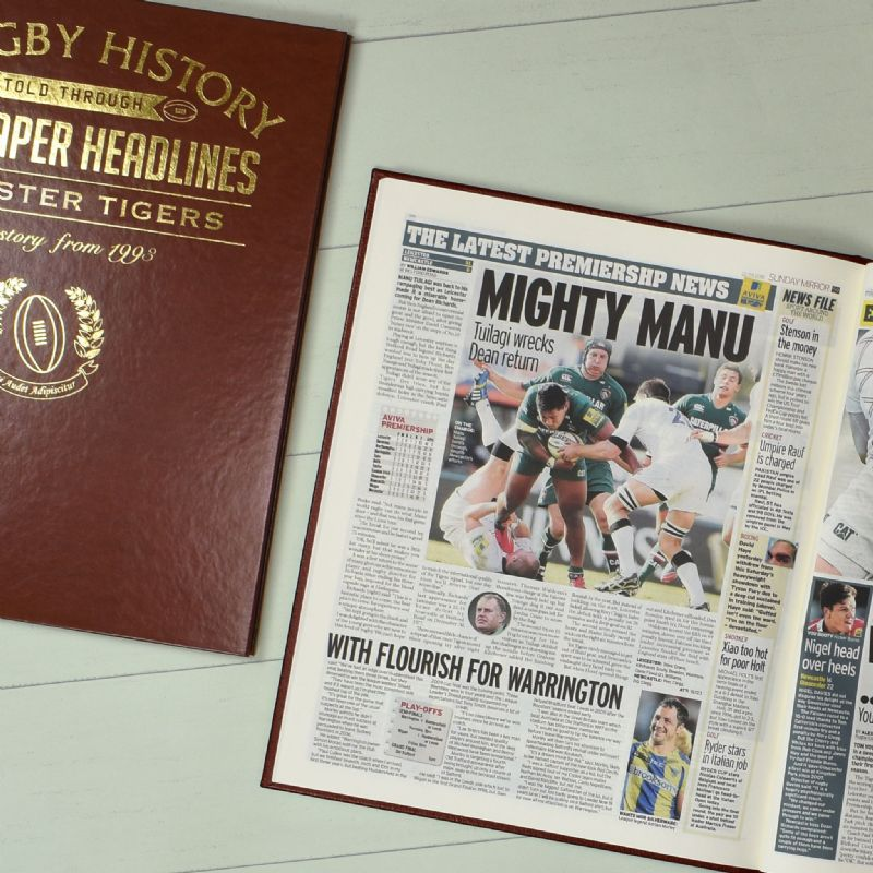 England Club Rugby  History - Newspaper Book | Sweet and Nostalgic